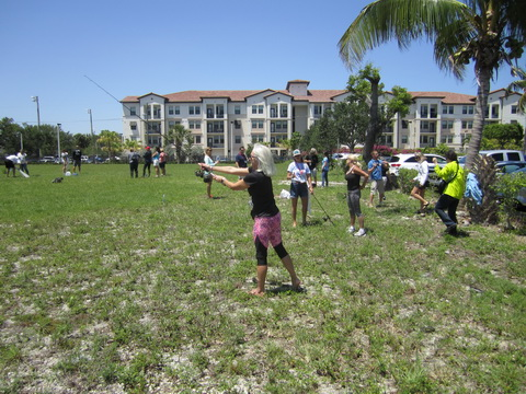 Ladies practice spin and net casting_resize