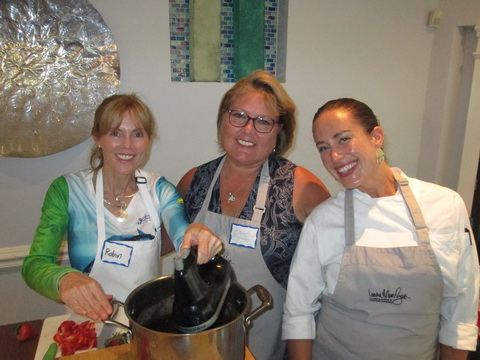 Robin Krueger and Barbara Gray at Ladies, Let's Go Fishing cooking class_resize