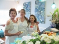 Jane Brady Angela Falletta Norma Benford at LLGF cooking class_resize