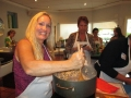 Lori Lambert cooks rosotto at Ladies, Let's Go Fishing cooking class_resize