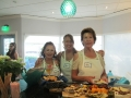 Norma Benford, Angela Falletta and Jane Brady at Ladies, Let's Go Fishing cooking class_resize