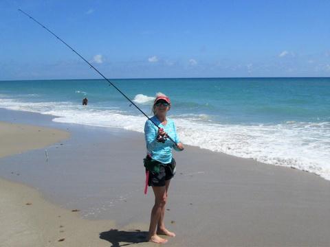 Betty Bauman fishing with Penn Passion_resize