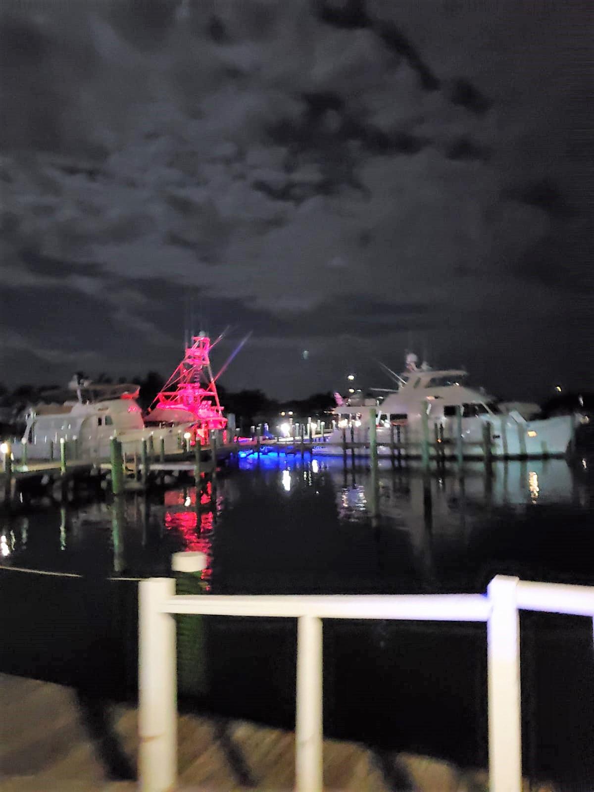 Night-time-Treasure-Cay-marina