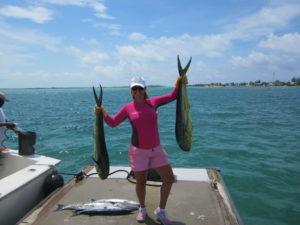 woman w fish