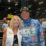 Betty with fishing Tv star Blair Wiggins