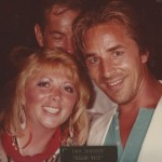 Betty with Don Johnson Miami Vice