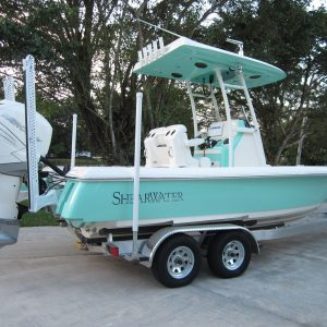 LLGF Official Shearwater 250 XTE Bay Boat Perfect for St. Patty's Day
